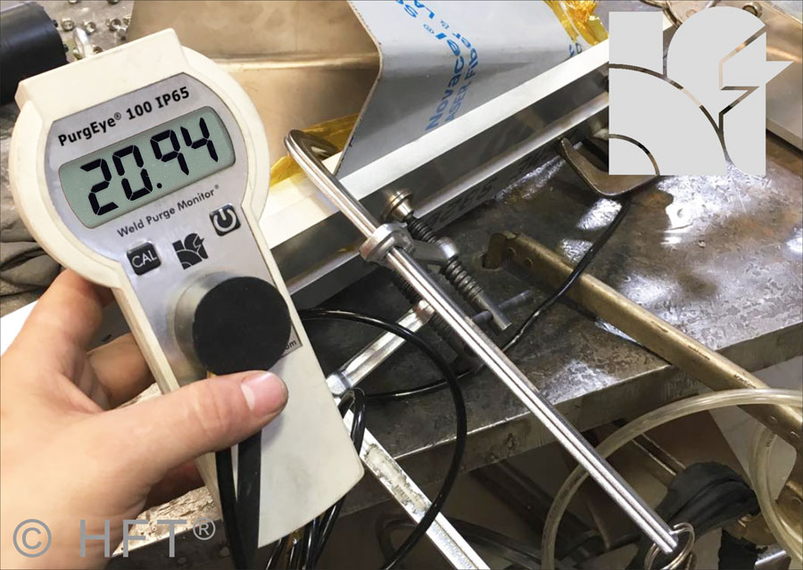 The PurgEye 100 Weld Purge Monitor accurately reads down to 100 ppm, perfect for welding stainless steel