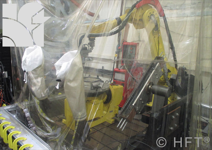 welding enclosure, welding titanium, oxide free welds, welding chamber, metal glove box