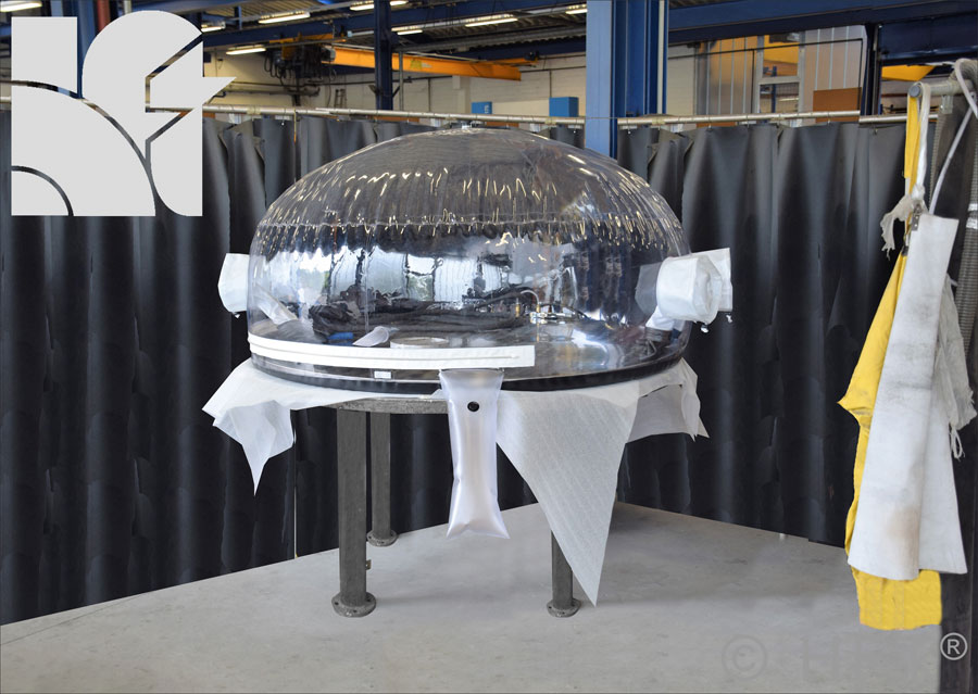 welding enclosure, flexible welding, welding in the aerospace, welding bubble